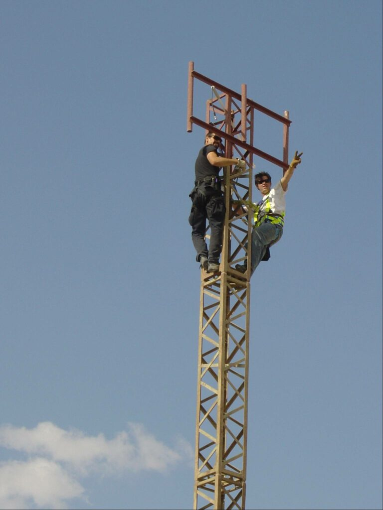 Kenny and John Repeater antenna install