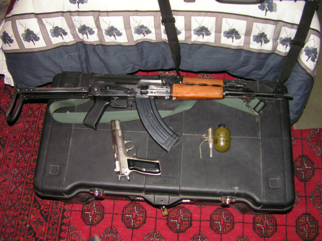 My weapons out and about in Iraq